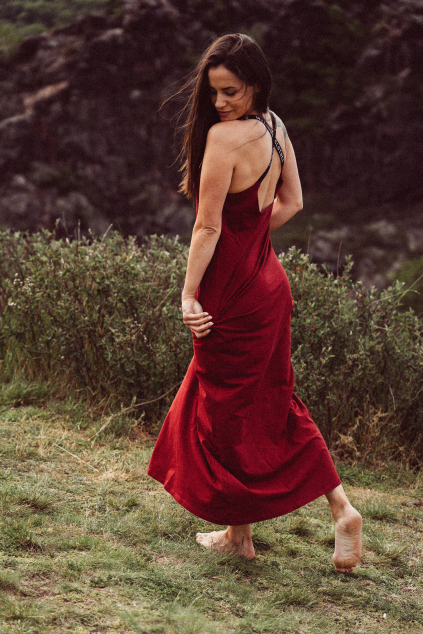 Dlouhé šaty Lanzarote burgundy