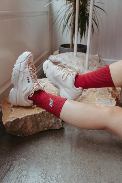 Ponožky, které pomáhají - burgundy