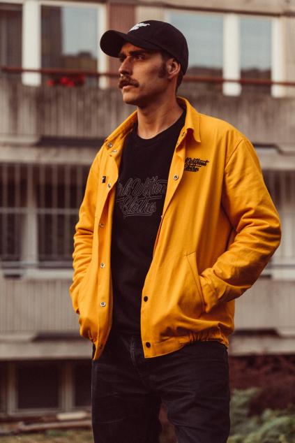 Pánská Coach Jacket s malou typo (žlutá)