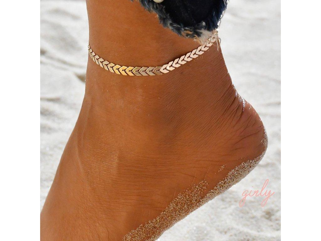 Zlatá retiazka na nohu