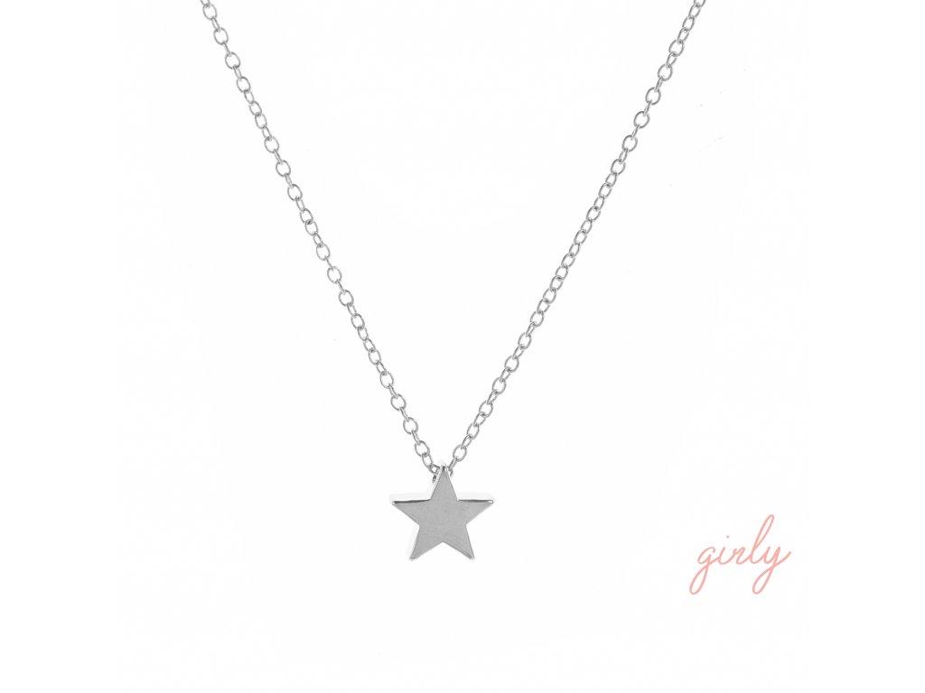 Náhrdelník gold/silver star