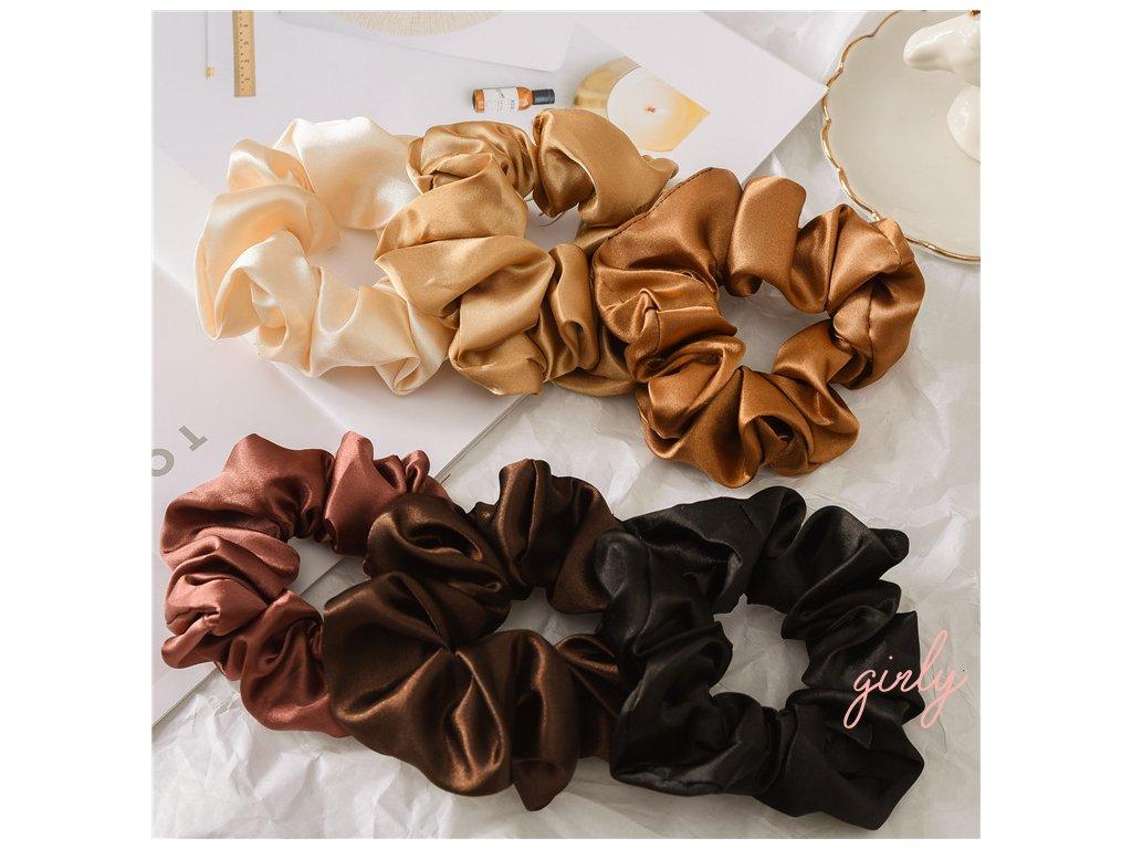 Saténová gumička do vlasov rôzne farby