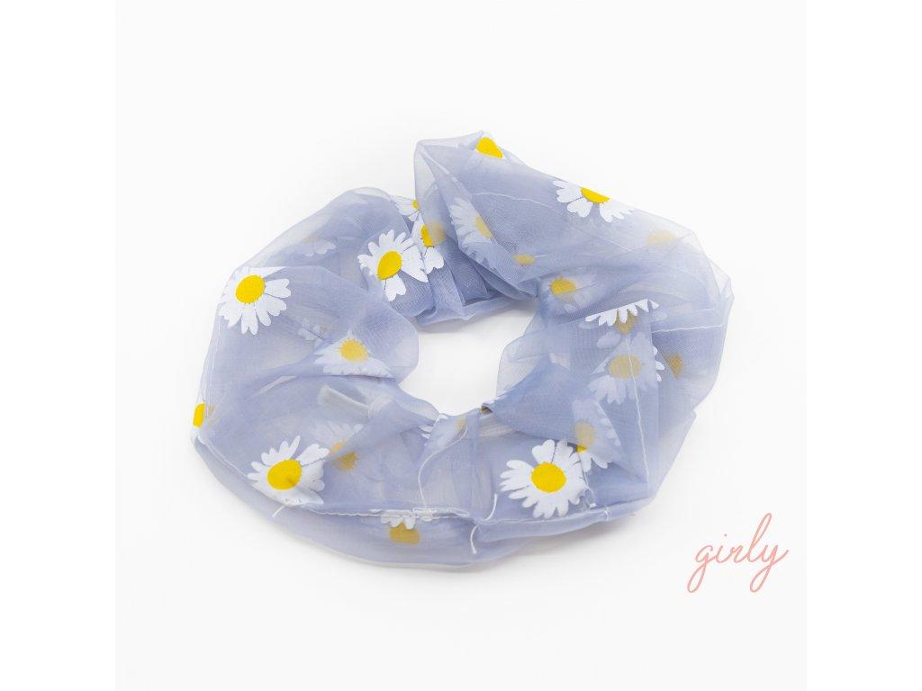 Gumička do vlasov- Flowers- rôzne farby