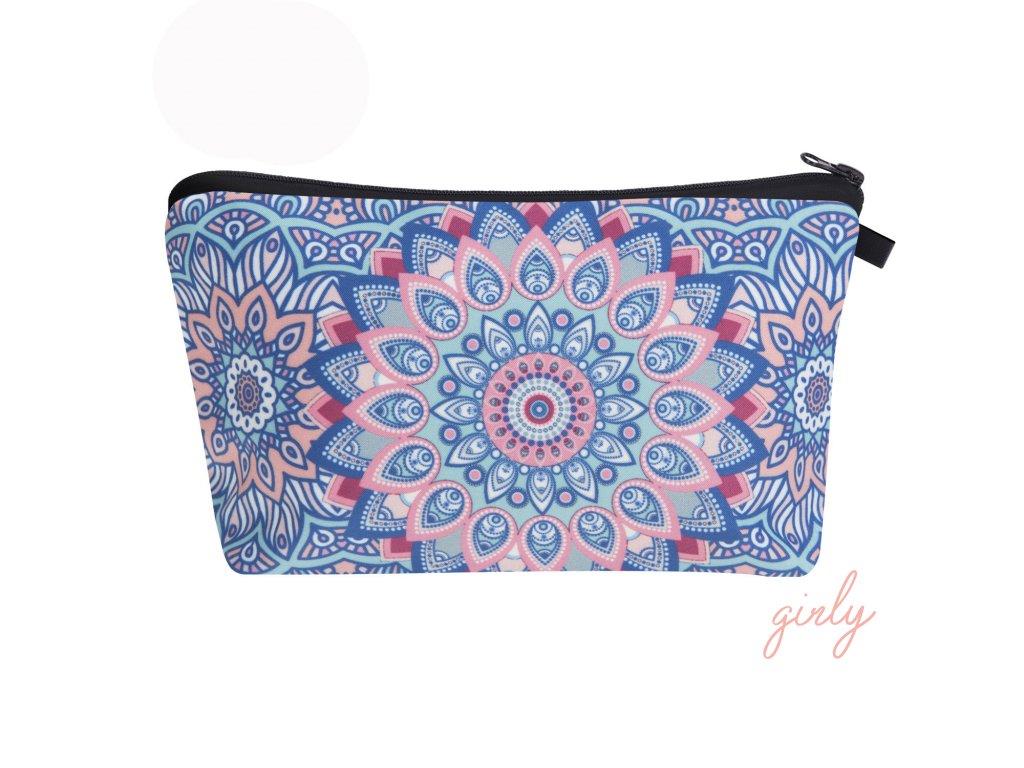 Látková farebná kozmetická taška