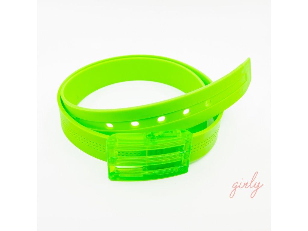 Gumený opasok zelený
