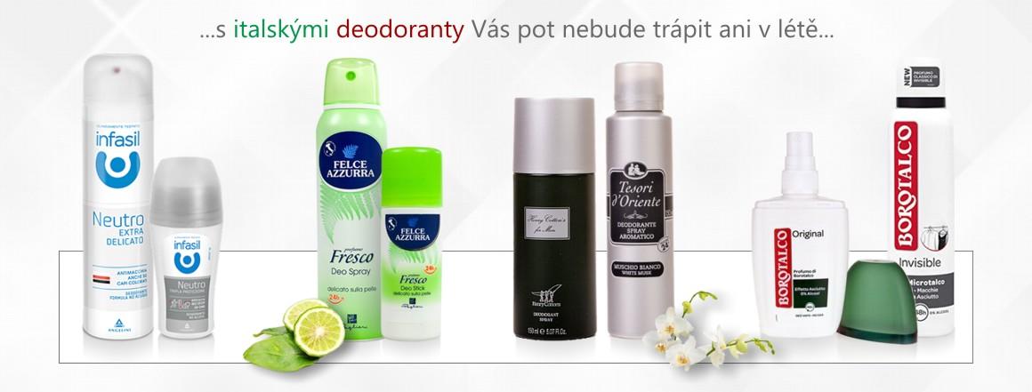Italské deodoranty v nabídce