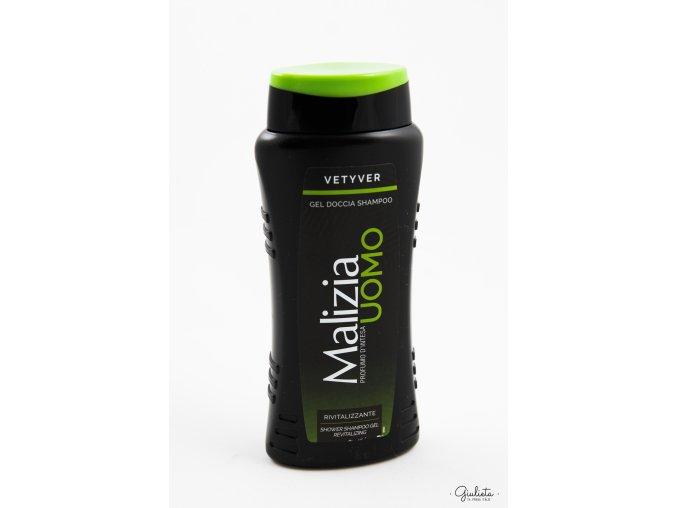Malizia sprchový gel 2v1 Uomo Vetyver, 250 ml