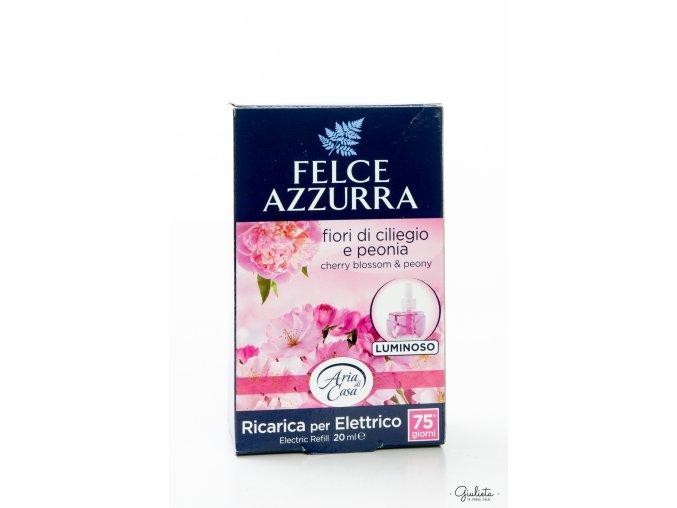 Felce Azzurra náhradní náplň do elektrického difuzéru s vůní třešňových květů a pivoňky, 20 ml