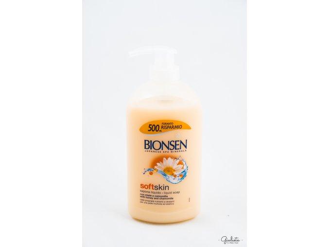 Bionsen tekuté mýdlo s medem a heřmánkem s dávkovačem, 500 ml