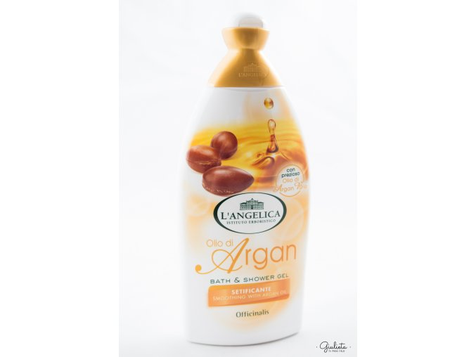 L'Angelica Officinalis sprchový gel/perličková koupel Olio di Argan Bio, 500 ml