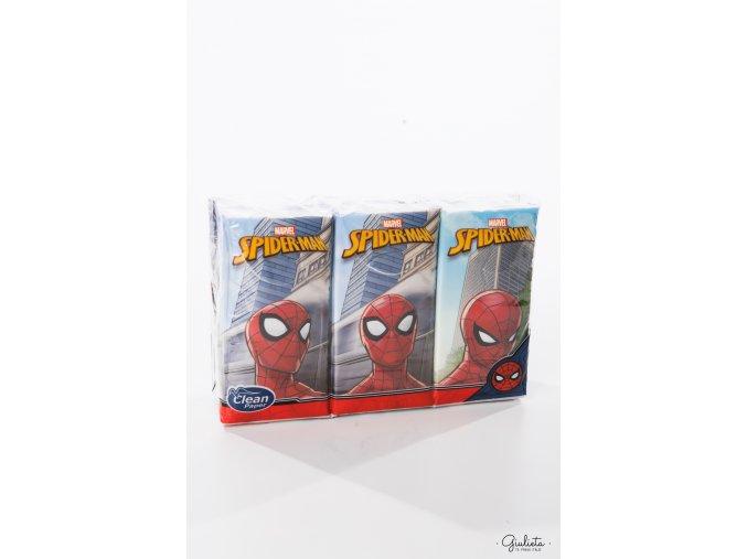 Clean Paper kapesníčky s motivem Spiderman, 6 balíčků