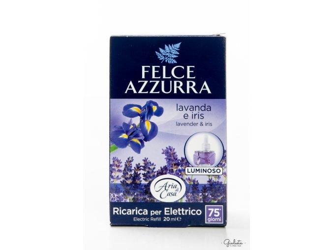 Felce Azzurra náhradní náplň do elektrického osvěžovače, Levandule & Iris, 20 ml