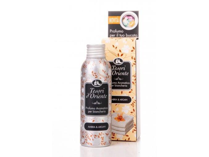 Tesori d'Oriente bez loga koncentrovaný parfém na prádlo s vůní Ambry a Arganu, 100 ml