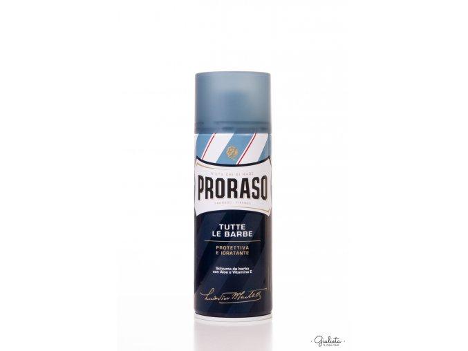 Proraso Blue pěna na holení s hydratačním a ochranným účinkem, 400 ml