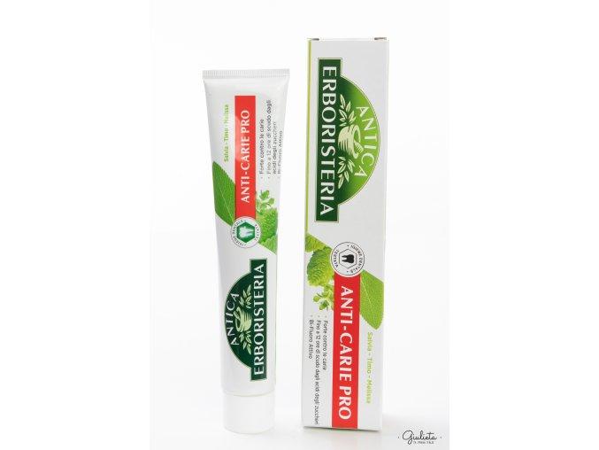 Antica Erboristeria zubní pasta pro ochranu před zubním kazem, 75 ml