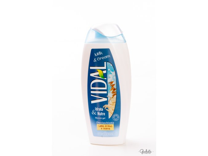 Vidal Milk & Cream sprchový gel, 250 ml