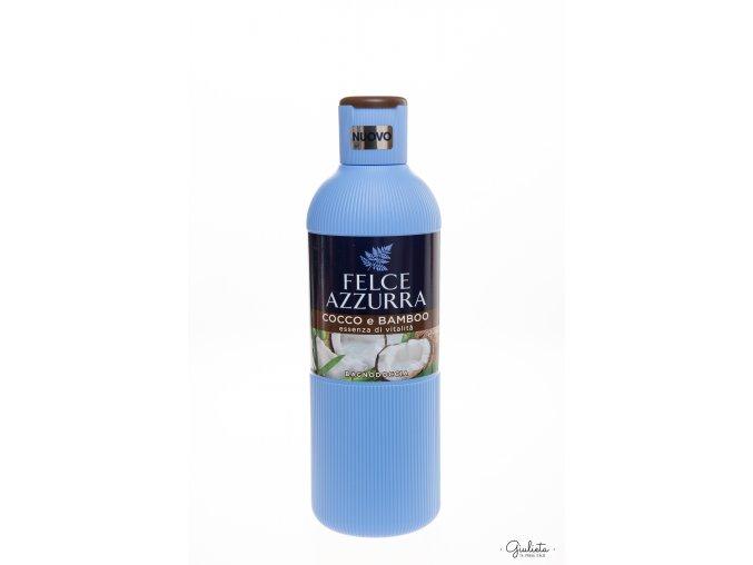 Felce Azzurra sprchový gel/pěna do koupele Cocco e Bamboo, 650 ml