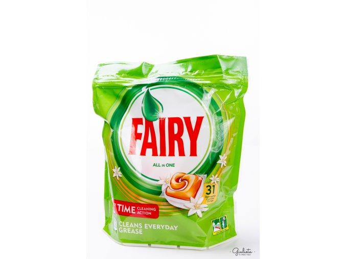 Fairy kapsle do myčky All In One Orange, 31 kapslí