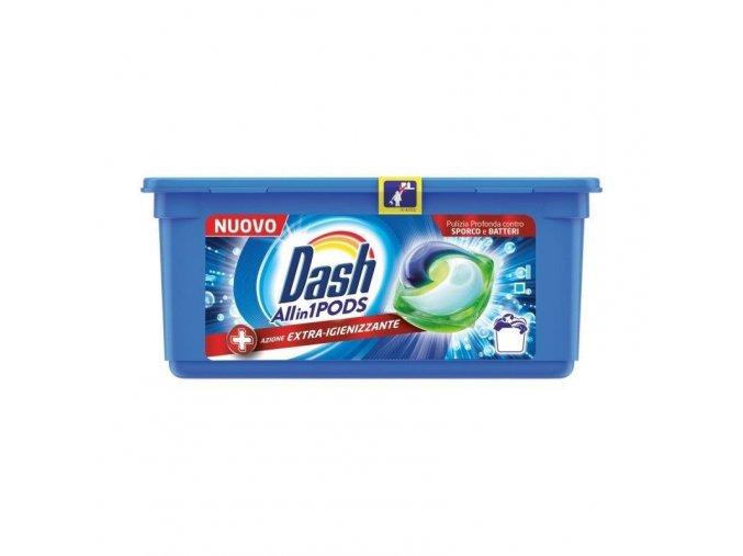 Dash Pods Allin1 Detersivo Lavatrice in Capsule + Azione Extra Igienizzante 22 Lavaggi