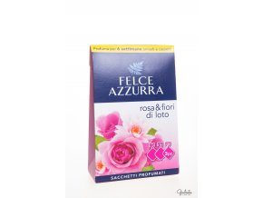 Felce Azzurra vonné sáčky do skříní s vůní růží a lotosových květů, 3 ks