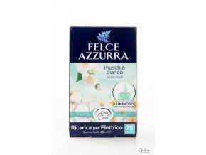 Felce Azzurra náhradní náplň do elektrického osvěžovače, Muschio Bianco, 20 ml