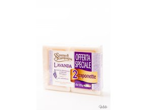 Spuma di Sciampagna toaletní mýdlo Lavanda, 2x125 g