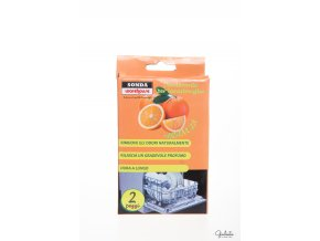 Sonda deodorant do myčky nádobí s vůní pomerančů, 2 ks