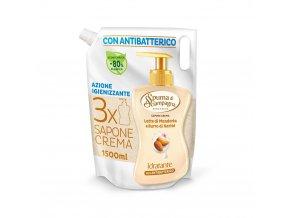 Spuma di Sciampagna antibakteriální tekuté krémové mýdlo Benessere Idratante Latte di Mandorla e Burro di Karité, náhradní náplň