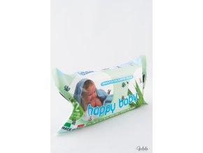 Happy dětské vlhčené toaletní ubrousky s Aloe Vera, 72 ks