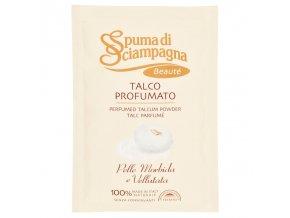 Spuma di Sciampagna Benessere parfémovaný tělový pudr s přírodním mastkem, náhradní náplň