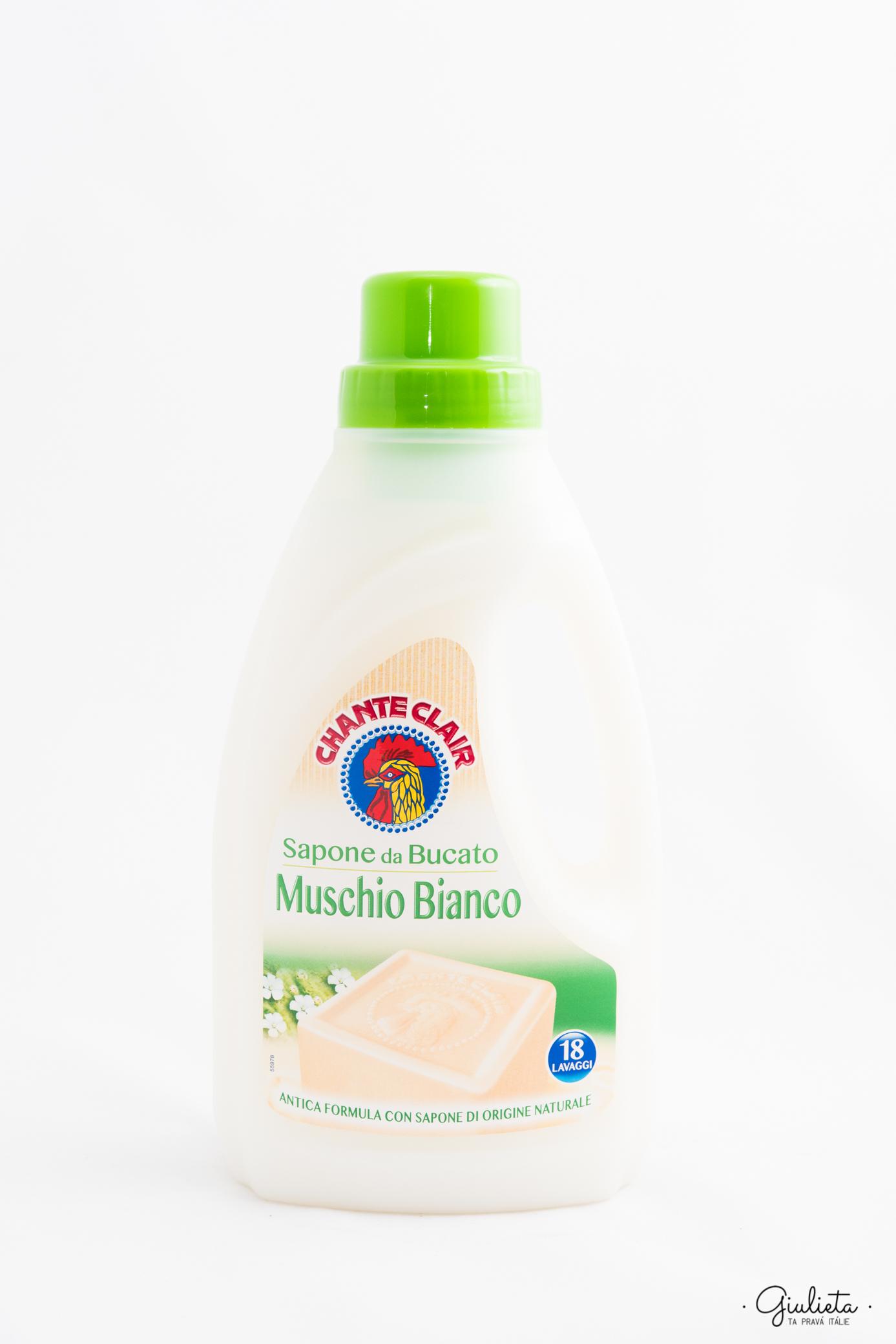 Chante Clair prací gel Bucato Muschio Bianco, 18 pracích dávek