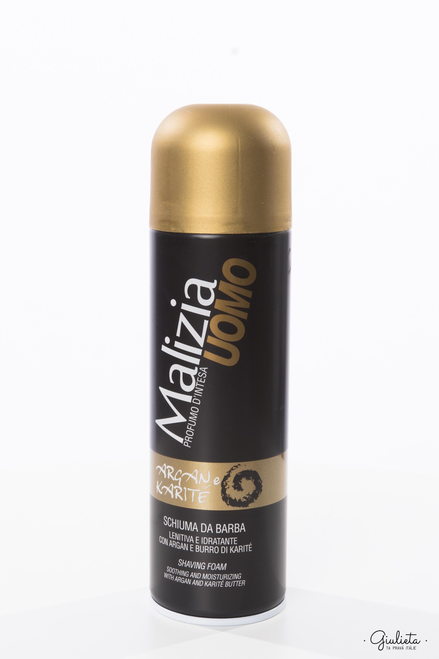 Malizia zklidňující pěna na holení pro muže, 300 ml
