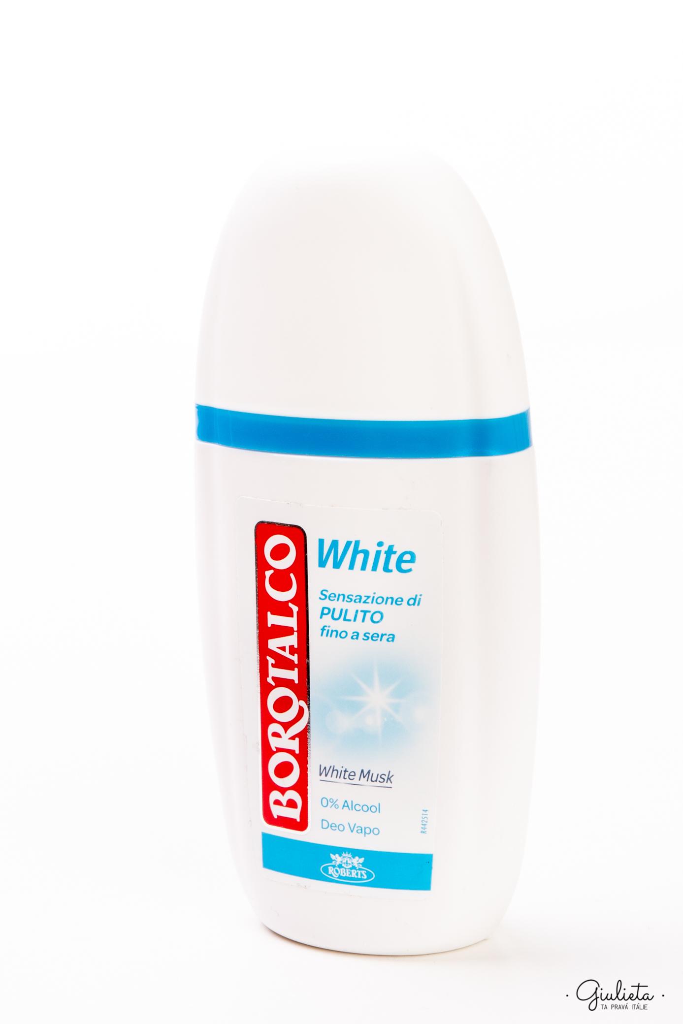 Borotalco deodorant Vapo s rozprašovačem Muschio Bianco, 75 ml