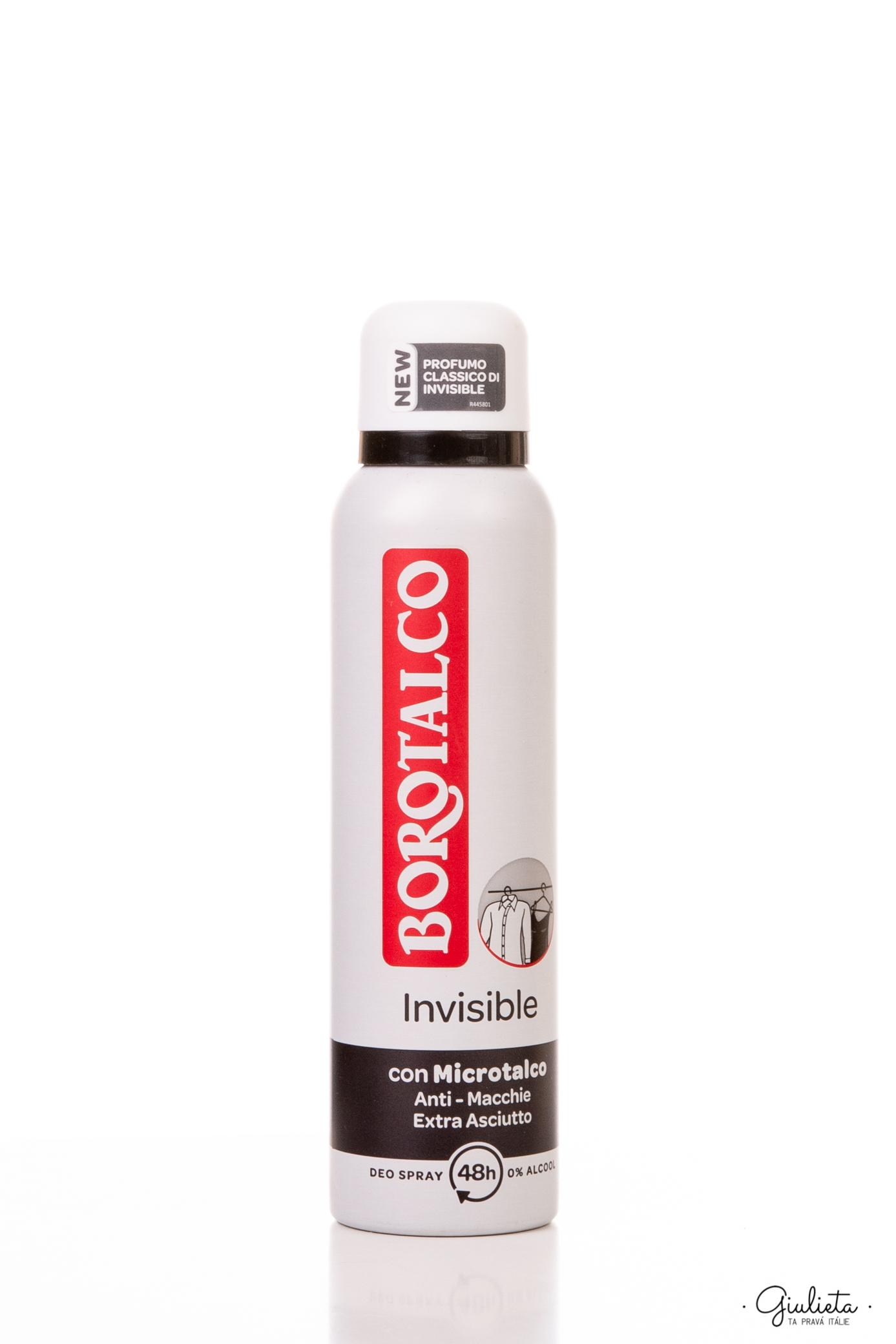 Borotalco deodorant ve spreji Invisible, 150 ml