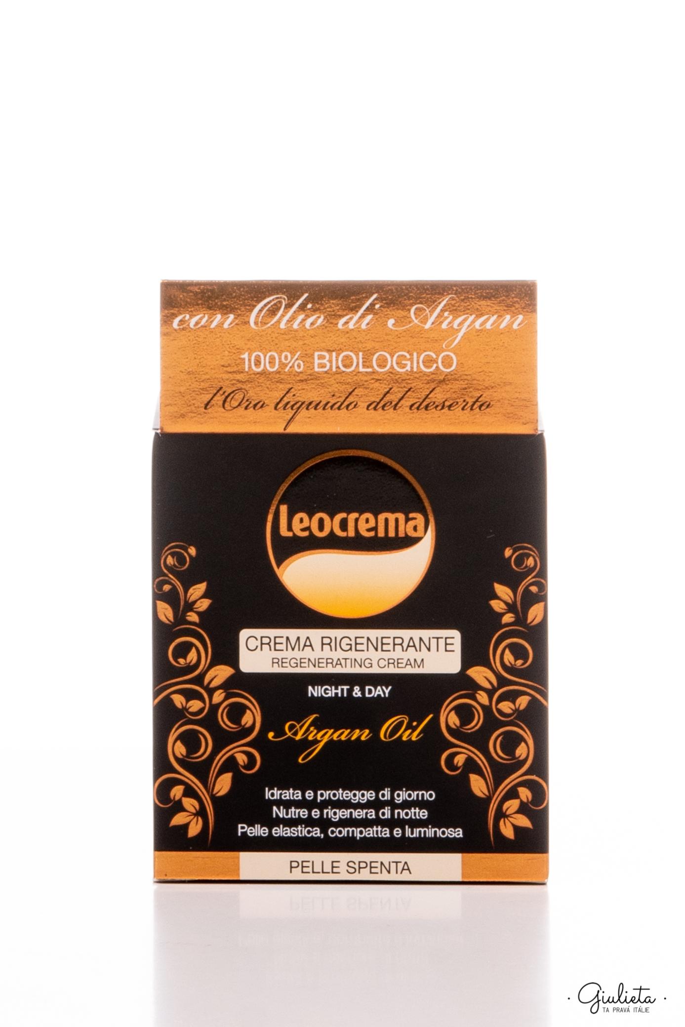 Leocrema regenerační denní/noční pleťový krém s BIO arganovým olejem, 50ml
