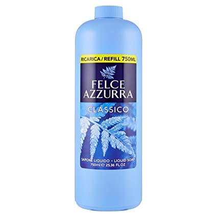 Felce Azzurra Classico tekuté mýdlo, náhradní náplň, 750 ml