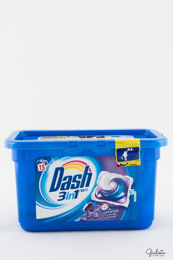 Dash gelové kapsle PODs 3in1 s vůní Levandule, 15 ks