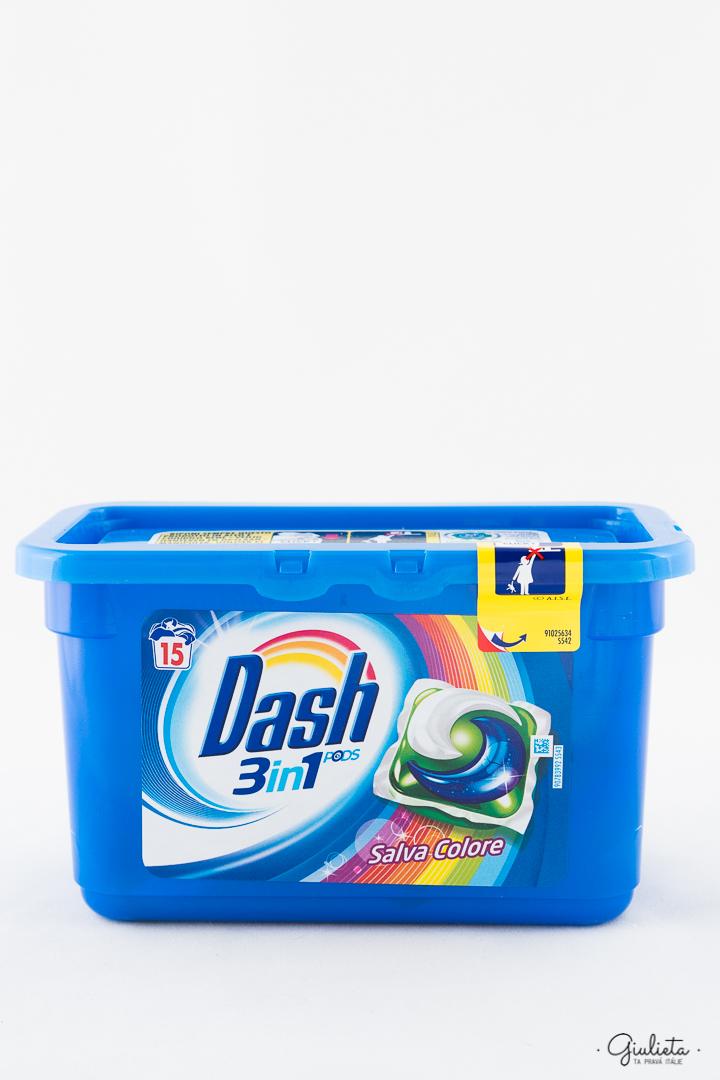 Dash gelové kapsle PODs 3in1 Salva Colore, 15 ks