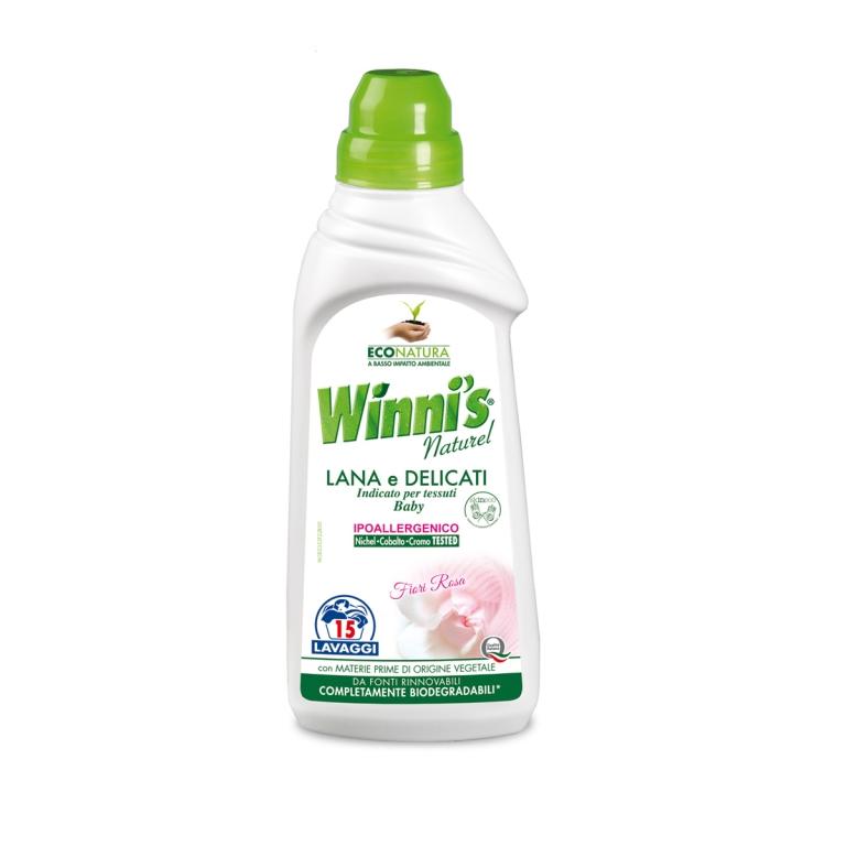 Winni's hypoalergenní prací gel na vlnu, jemné tkaniny a dětské prádlo, 15 pracích dávek
