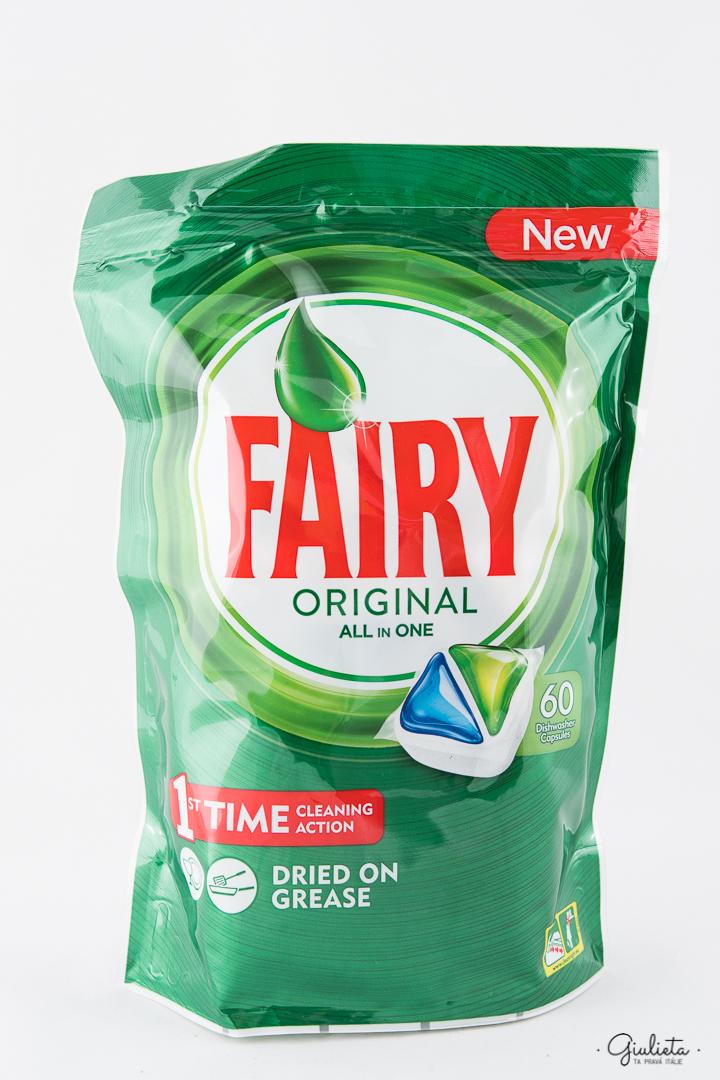 Fairy kapsle do myčky All In One Original, 60 kapslí
