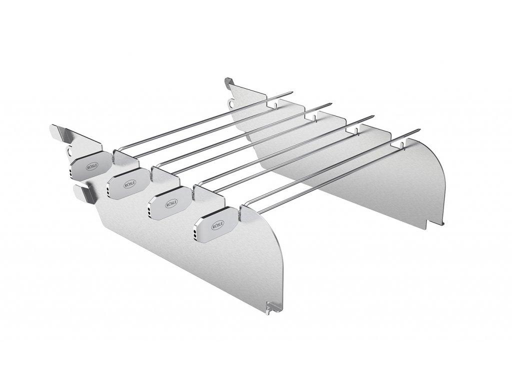 Primezone ochrana proti větru a držák na špízy v jednom