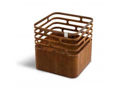 Höfats Cube Corten přenosné zahradní topeniště a gril
