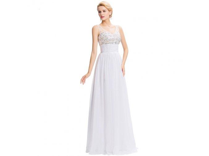 Bílé společenské šaty GRÁCIE