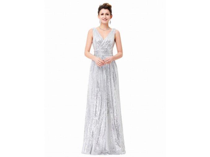 flitrové šaty bílé