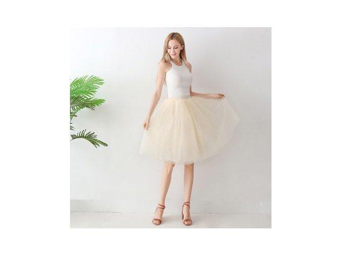 TUTU tylová sukně dámská ivory 65 cm