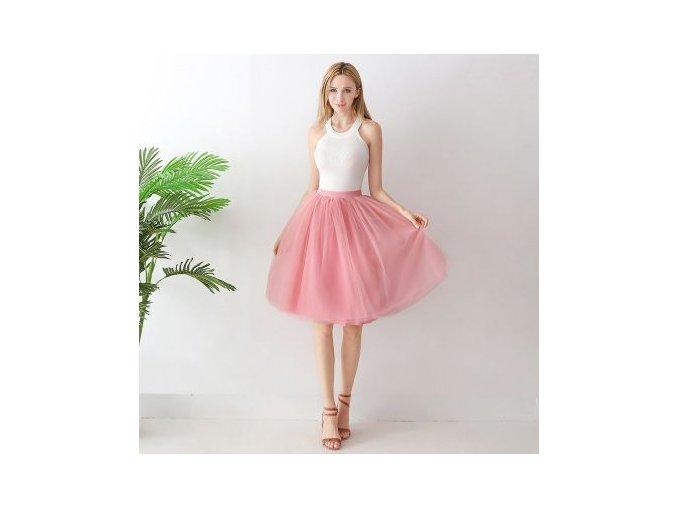 TUTU tylová sukně dámská růžová 65 cm