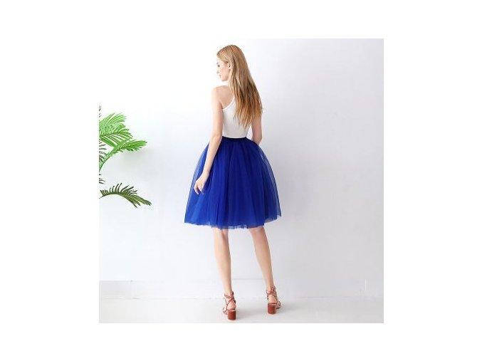 TUTU tylová sukně dámská tmavě modrá 65 cm