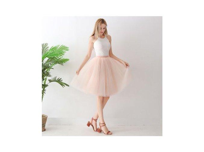 TUTU tylová sukně dámská oranžovožlutá 65 cm