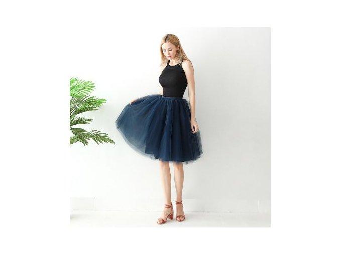 TUTU tylová sukně dámská dark modrá 65 cm