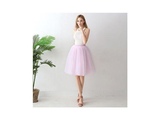 TUTU tylová sukně dámská světle růžová 65 cm